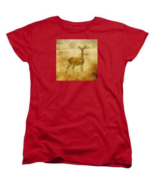 Doe A Deer A Female Deer Women's T-Shirt (Standard Cut) by Linsey Williams