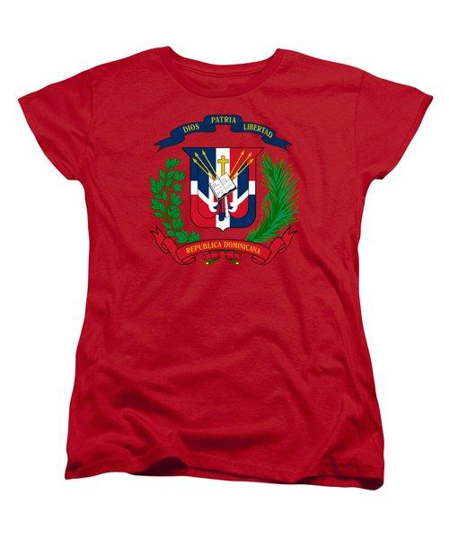 Dominican Republic Coat Of Arms Women's T-Shirt (Standard Cut)
