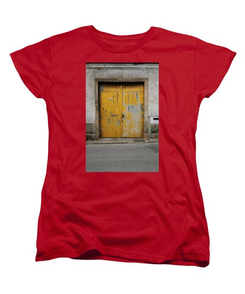 Women's T-Shirt (Standard Cut) featuring the photograph Door No 152 by Marco Oliveira