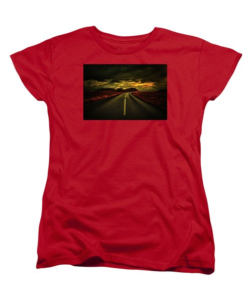 Women's T-Shirt (Standard Cut) featuring the photograph Down The Road by Scott Mahon