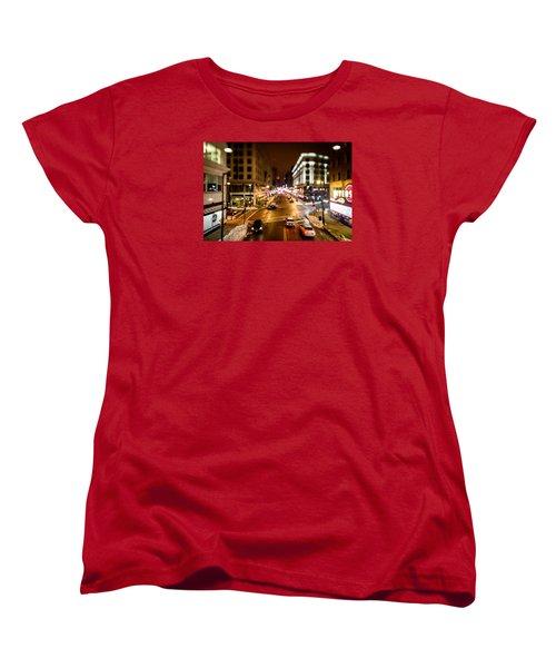 Downtown In The Itty-bitty City Women's T-Shirt (Standard Cut) by Randy Scherkenbach
