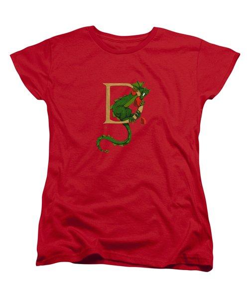 Dragon Letter D 2016 Women's T-Shirt (Standard Cut) by Donna Huntriss