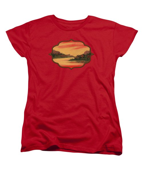 Dragon Sunset Women's T-Shirt (Standard Cut) by Anastasiya Malakhova