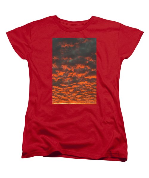 Dramatic Sunset Women's T-Shirt (Standard Cut) by Hans Engbers
