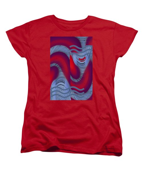 Women's T-Shirt (Standard Cut) featuring the digital art Dreaming Clown by Ben and Raisa Gertsberg