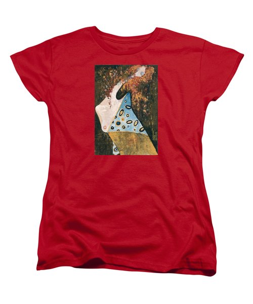 Women's T-Shirt (Standard Cut) featuring the painting Dreaming by Maya Manolova