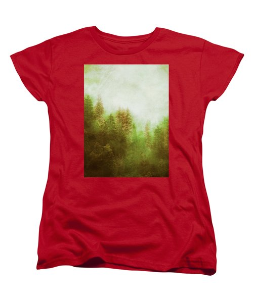 Dreamy Summer Forest Women's T-Shirt (Standard Cut) by Klara Acel