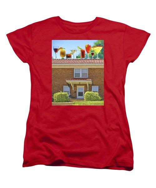 Drinks On The House Women's T-Shirt (Standard Cut) by Nikolyn McDonald