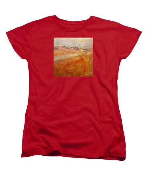 Women's T-Shirt (Standard Cut) featuring the painting Drought by Dragica  Micki Fortuna