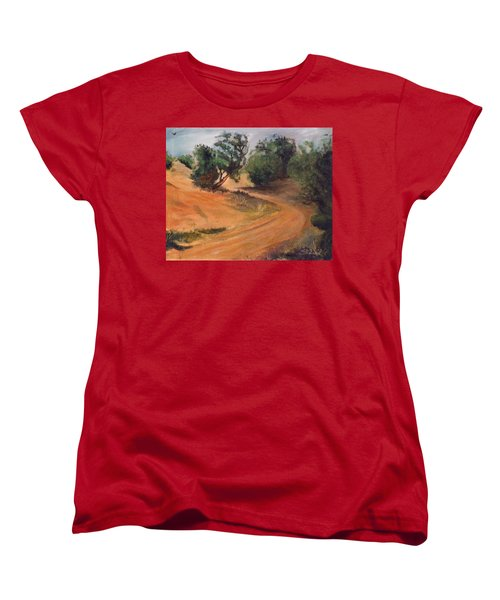 Dry Wash Road Women's T-Shirt (Standard Cut) by Sherril Porter
