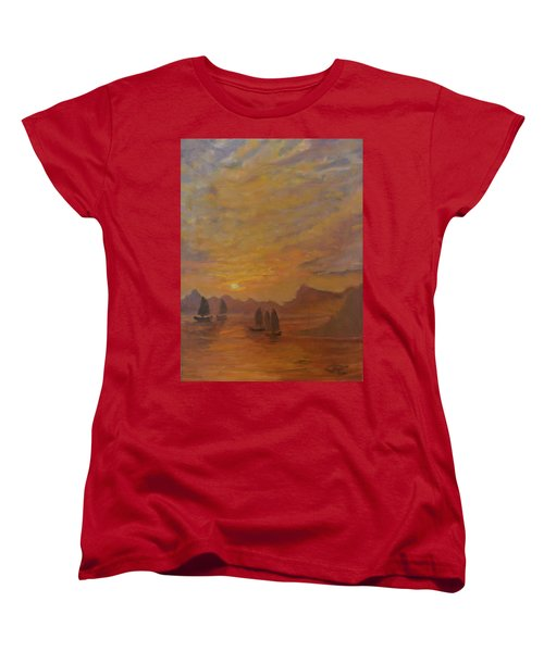 Women's T-Shirt (Standard Cut) featuring the painting Dubrovnik by Julie Todd-Cundiff