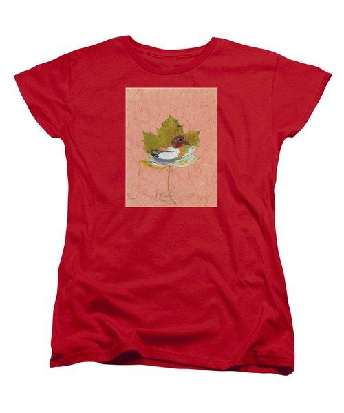 Duck On Pond Women's T-Shirt (Standard Cut) by Ralph Root