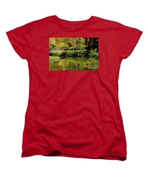 Women's T-Shirt (Standard Cut) featuring the photograph Ducks In Summertime by Iris Greenwell