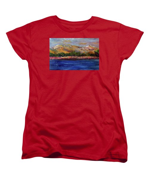 Dunes At Pilgrim Lake Women's T-Shirt (Standard Cut) by Michael Helfen