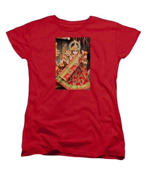 Durga In Madho Bhag, Mumbai Women's T-Shirt (Standard Cut) by Jennifer Mazzucco