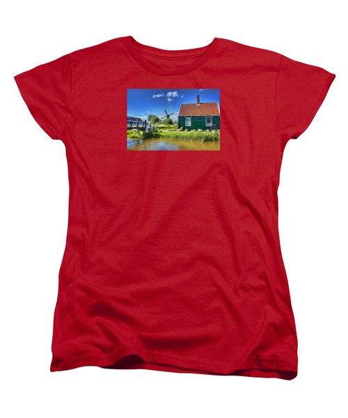Dutch Village Women's T-Shirt (Standard Cut) by Nadia Sanowar