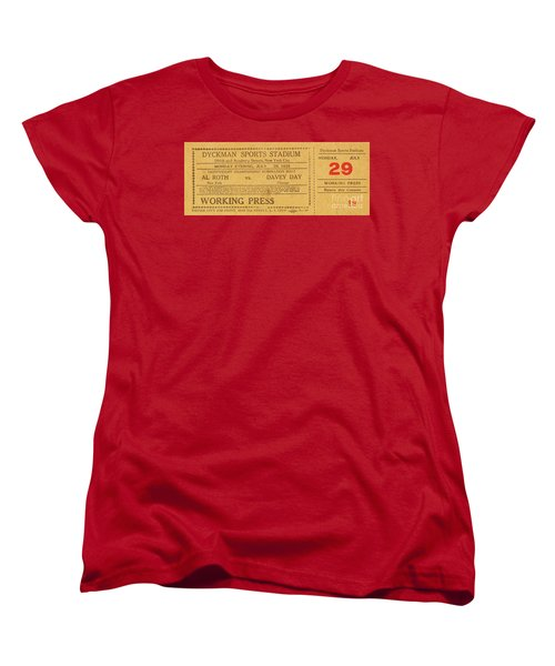 Women's T-Shirt (Standard Cut) featuring the photograph Dyckman Oval Ticket by Cole Thompson