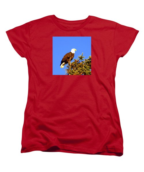 Eagle Women's T-Shirt (Standard Cut) by Jerry Cahill