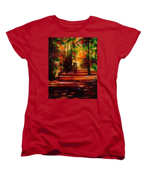 Women's T-Shirt (Standard Cut) featuring the painting Early Monday Morning by Emery Franklin