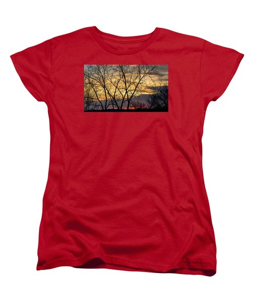 Early Spring Sunrise Women's T-Shirt (Standard Cut) by Randy Scherkenbach