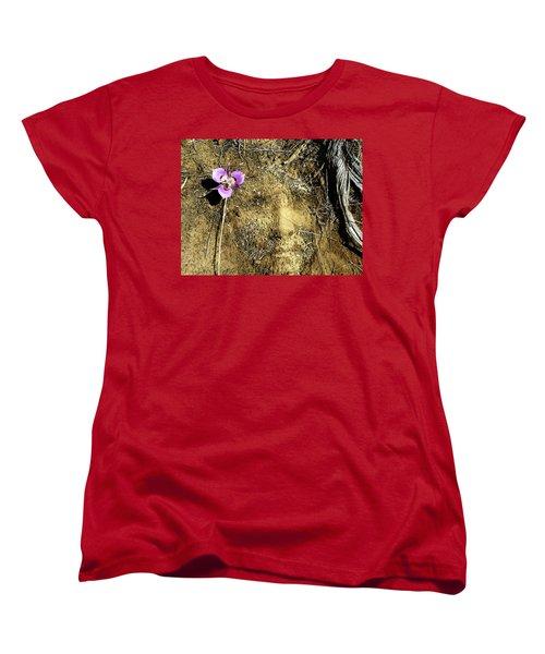 Women's T-Shirt (Standard Cut) featuring the photograph Earth Memories - Desert Flower # 2 by Ed Hall
