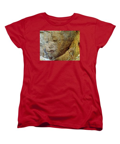 Women's T-Shirt (Standard Cut) featuring the photograph Earth Memories - Stone # 5 by Ed Hall