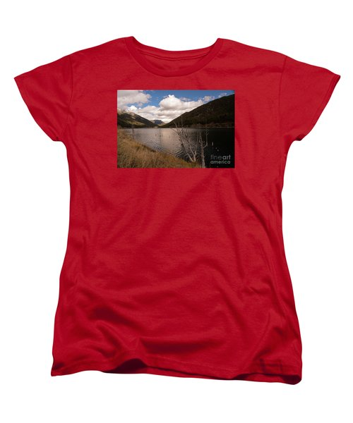 Earthquake Lake Women's T-Shirt (Standard Cut) by Cindy Murphy - NightVisions