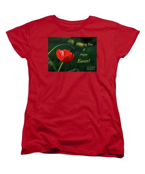 Women's T-Shirt (Standard Cut) featuring the photograph Easter Tulip by Douglas Stucky