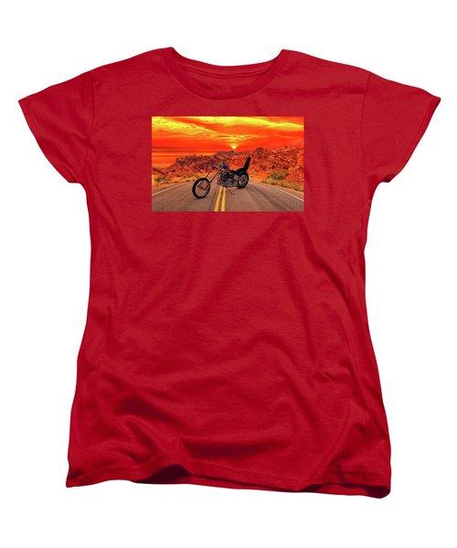 Women's T-Shirt (Standard Cut) featuring the photograph Easy Rider Chopper by Louis Ferreira
