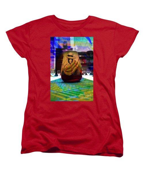 Women's T-Shirt (Standard Cut) featuring the photograph Ecuadorian Vase Art by Al Bourassa