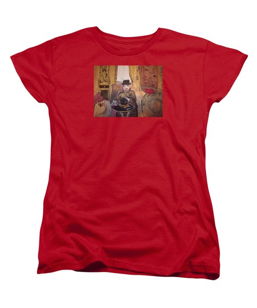Women's T-Shirt (Standard Cut) featuring the painting Edwardian Hats by Judith Desrosiers
