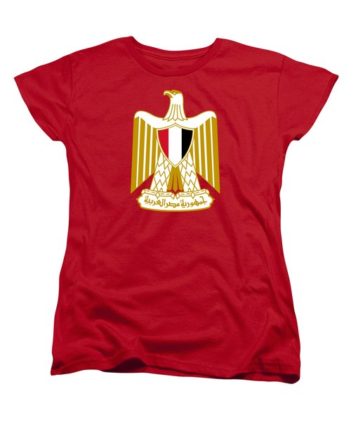 Women's T-Shirt (Standard Cut) featuring the drawing Egypt Coat Of Arms by Movie Poster Prints