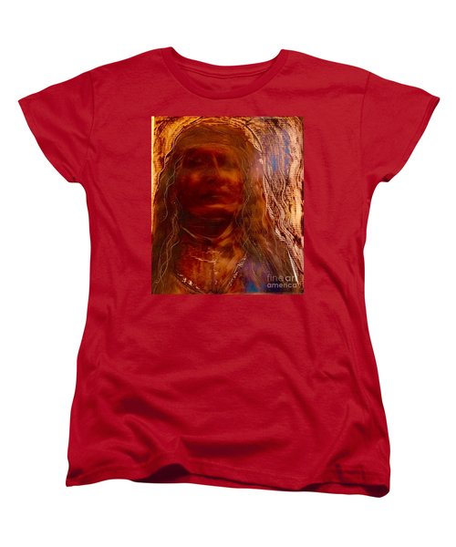 Women's T-Shirt (Standard Cut) featuring the painting Wisdomkeepers by FeatherStone Studio Julie A Miller