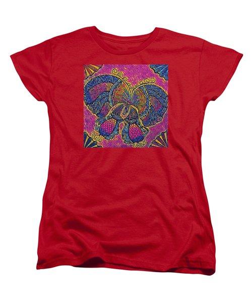 Electric Butterfly 2  Women's T-Shirt (Standard Cut) by Megan Walsh