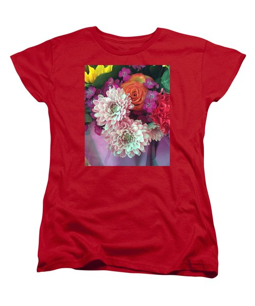 Elegant And Romantic Women's T-Shirt (Standard Cut) by Peggy Stokes