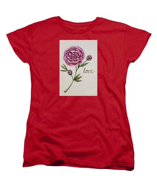 Women's T-Shirt (Standard Cut) featuring the painting Elegant Love by Elizabeth Robinette Tyndall