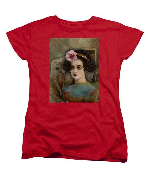 Women's T-Shirt (Standard Cut) featuring the digital art Elephant Dreamer by Lisa Noneman