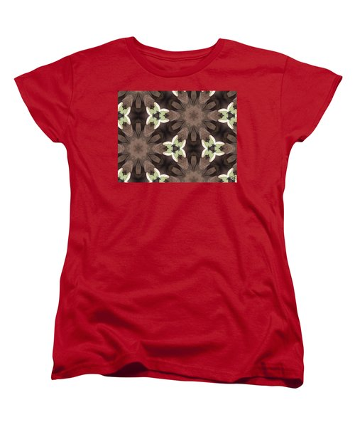 Elephant Flowers Women's T-Shirt (Standard Cut) by Maria Watt