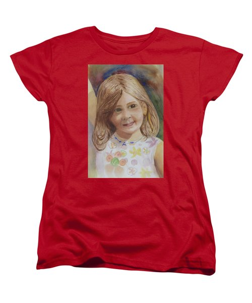 Women's T-Shirt (Standard Cut) featuring the painting Elizabeth by Donna Walsh