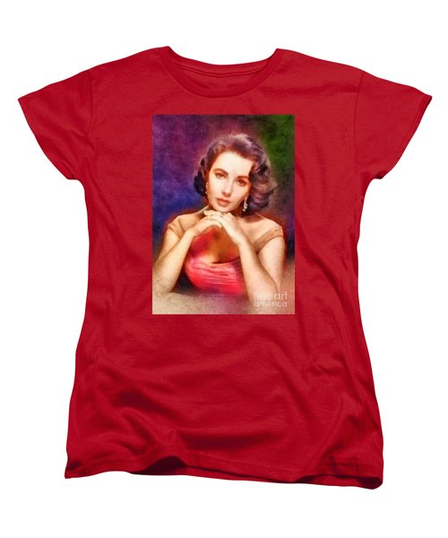 Elizabeth Taylor, Vintage Hollywood Legend Women's T-Shirt (Standard Cut) by Frank Falcon