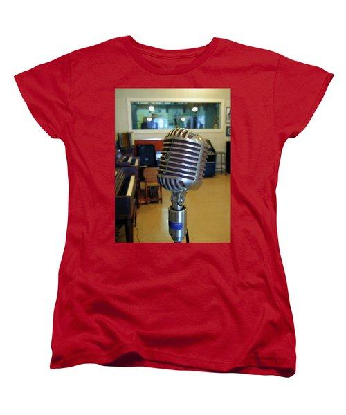 Women's T-Shirt (Standard Cut) featuring the photograph Elvis Presley Microphone by Mark Czerniec