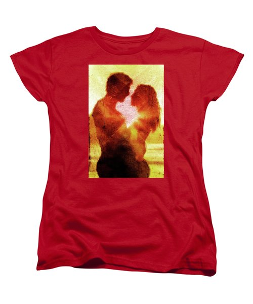 Women's T-Shirt (Standard Cut) featuring the digital art Embrace by Andrea Barbieri