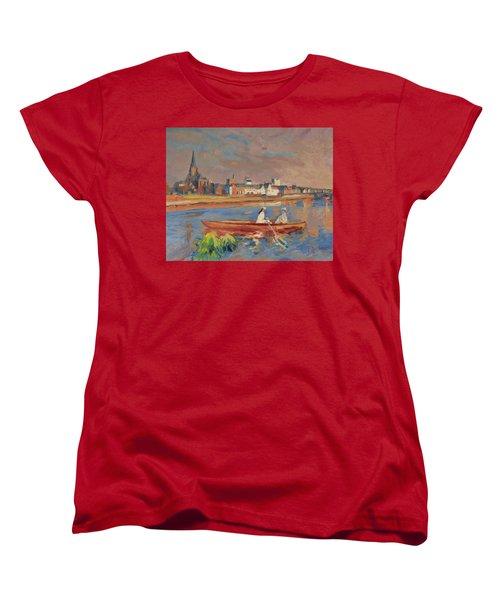 En Bateau De Renoir Sur La Meuse A Maestricht Women's T-Shirt (Standard Cut) by Nop Briex