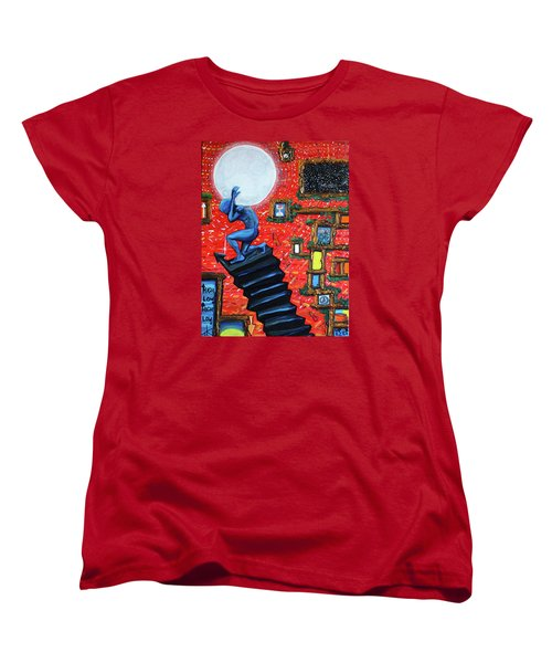 Energy Flow, The Active Space And The Effects Of The Rising Moon Women's T-Shirt (Standard Cut)