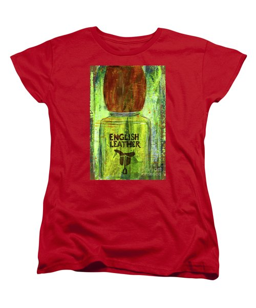 Women's T-Shirt (Standard Cut) featuring the painting English Leather by P J Lewis