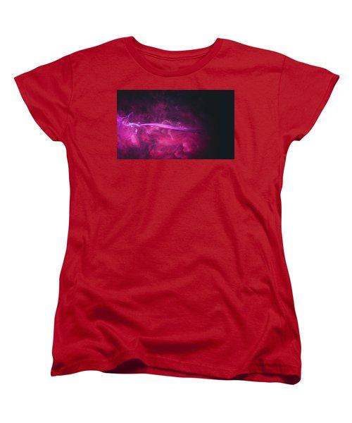 Enigma - Purple Abstract Photography Women's T-Shirt (Standard Cut) by Modern Art Prints