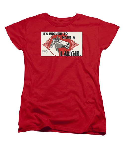 Women's T-Shirt (Standard Cut) featuring the painting Enough Is Enough by Pg Reproductions