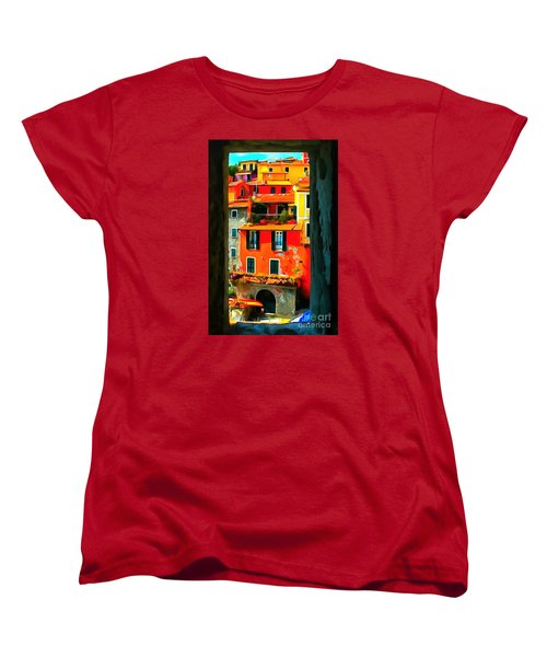 Entry Way Painting Women's T-Shirt (Standard Cut) by Catherine Lott