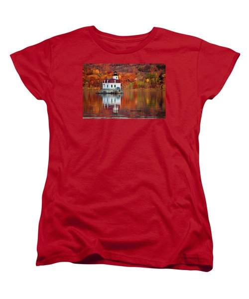 Esopus Lighthouse In Late Fall #2 Women's T-Shirt (Standard Cut) by Jeff Severson