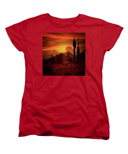 Women's T-Shirt (Standard Cut) featuring the photograph Essence Of The Southwest - Square  by Saija Lehtonen